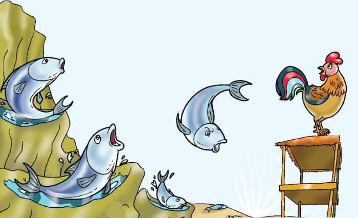 dongeng-persahabatan-Ayam-Jago-dan-Ikan-Tongkol
