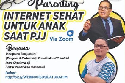 webinar internet sehat untuk anak masa pjj